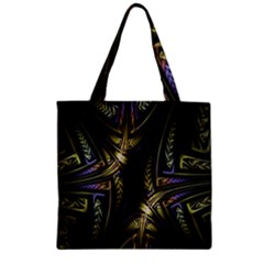 Fractal Braids Texture Pattern Zipper Grocery Tote Bag by Celenk