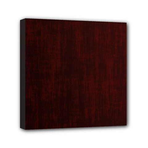 Grunge Brown Abstract Texture Mini Canvas 6  X 6  by Celenk