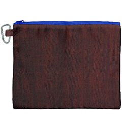 Grunge Brown Abstract Texture Canvas Cosmetic Bag (xxxl)