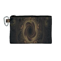 Beads Fractal Abstract Pattern Canvas Cosmetic Bag (medium) by Celenk