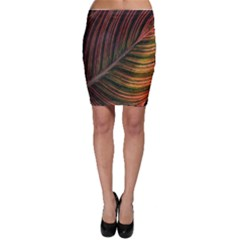 Leaf Colorful Nature Orange Season Bodycon Skirt