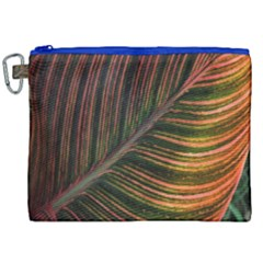 Leaf Colorful Nature Orange Season Canvas Cosmetic Bag (xxl) by Celenk