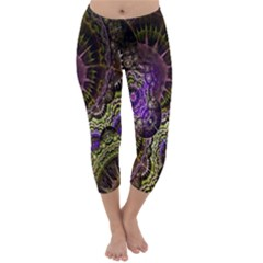 Abstract Fractal Art Design Capri Winter Leggings