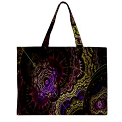 Abstract Fractal Art Design Zipper Mini Tote Bag by Celenk