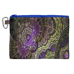 Abstract Fractal Art Design Canvas Cosmetic Bag (xl) by Celenk