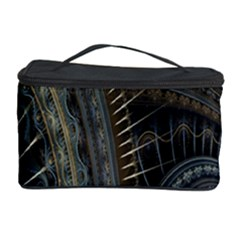 Fractal Spikes Gears Abstract Cosmetic Storage Case by Celenk