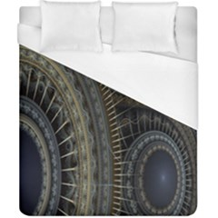 Fractal Spikes Gears Abstract Duvet Cover (california King Size) by Celenk
