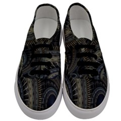 Fractal Spikes Gears Abstract Men s Classic Low Top Sneakers