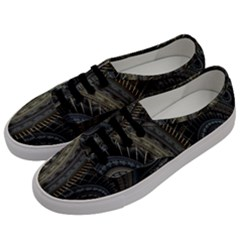 Fractal Spikes Gears Abstract Men s Classic Low Top Sneakers by Celenk