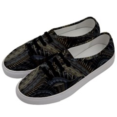 Fractal Spikes Gears Abstract Women s Classic Low Top Sneakers by Celenk