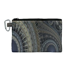 Fractal Spikes Gears Abstract Canvas Cosmetic Bag (medium) by Celenk