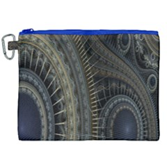 Fractal Spikes Gears Abstract Canvas Cosmetic Bag (xxl) by Celenk