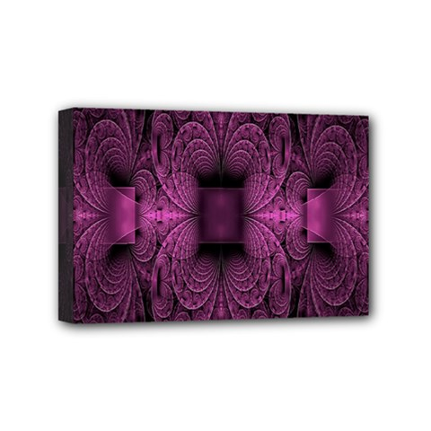 Fractal Magenta Pattern Geometry Mini Canvas 6  X 4  by Celenk