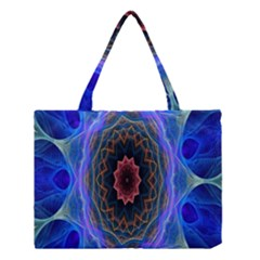 Cosmic Flower Kaleidoscope Art Medium Tote Bag by Celenk