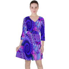 Fractal Fantasy Creative Futuristic Ruffle Dress