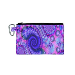 Fractal Fantasy Creative Futuristic Canvas Cosmetic Bag (small) by Celenk