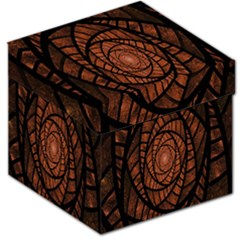 Fractal Red Brown Glass Fantasy Storage Stool 12