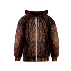 Fractal Red Brown Glass Fantasy Kids  Zipper Hoodie