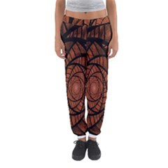 Fractal Red Brown Glass Fantasy Women s Jogger Sweatpants