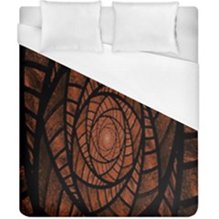 Fractal Red Brown Glass Fantasy Duvet Cover (california King Size) by Celenk