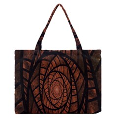 Fractal Red Brown Glass Fantasy Zipper Medium Tote Bag by Celenk