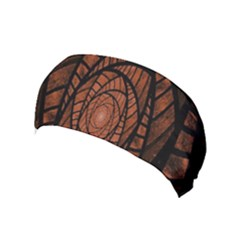 Fractal Red Brown Glass Fantasy Yoga Headband