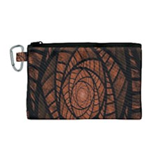 Fractal Red Brown Glass Fantasy Canvas Cosmetic Bag (medium) by Celenk