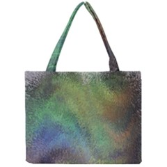 Frosted Glass Background Psychedelic Mini Tote Bag by Celenk
