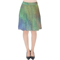 Frosted Glass Background Psychedelic Velvet High Waist Skirt