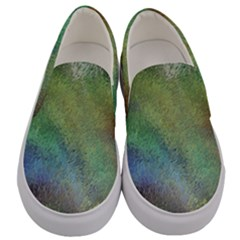 Frosted Glass Background Psychedelic Men s Canvas Slip Ons