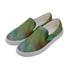 Frosted Glass Background Psychedelic Women s Canvas Slip Ons by Celenk
