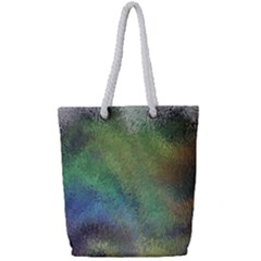 Frosted Glass Background Psychedelic Full Print Rope Handle Bag (small) by Celenk