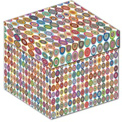 Decorative Ornamental Concentric Storage Stool 12   by Celenk