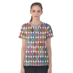 Decorative Ornamental Concentric Women s Cotton Tee