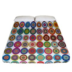 Decorative Ornamental Concentric Fitted Sheet (queen Size) by Celenk