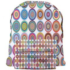 Decorative Ornamental Concentric Giant Full Print Backpack by Celenk