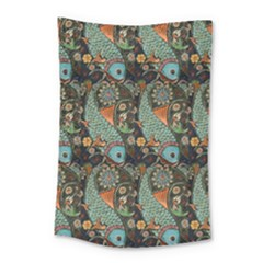 Pattern Background Fish Wallpaper Small Tapestry