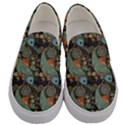 Pattern Background Fish Wallpaper Men s Canvas Slip Ons View1
