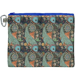Pattern Background Fish Wallpaper Canvas Cosmetic Bag (xxxl) by Celenk