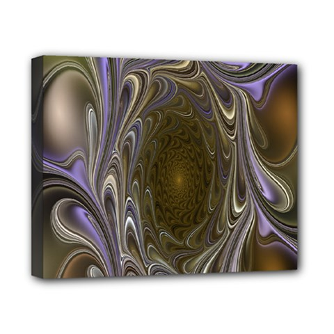 Fractal Waves Whirls Modern Canvas 10  X 8  by Celenk