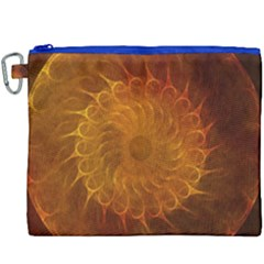 Orange Warm Hues Fractal Chaos Canvas Cosmetic Bag (xxxl) by Celenk