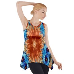 Alchemy Kaleidoscope Pattern Side Drop Tank Tunic