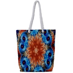 Alchemy Kaleidoscope Pattern Full Print Rope Handle Bag (small) by Celenk