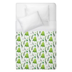 Watercolor Christmas Tree Duvet Cover (single Size) by patternstudio