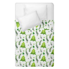 Watercolor Christmas Tree Duvet Cover Double Side (single Size) by patternstudio