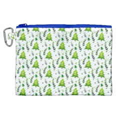 Watercolor Christmas Tree Canvas Cosmetic Bag (xl) by patternstudio