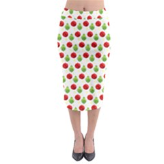 Watercolor Ornaments Midi Pencil Skirt by patternstudio