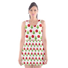 Watercolor Ornaments Scoop Neck Skater Dress by patternstudio
