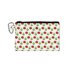 Watercolor Ornaments Canvas Cosmetic Bag (small)