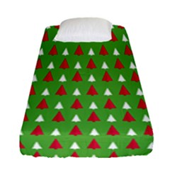 Christmas Tree Fitted Sheet (single Size) by patternstudio